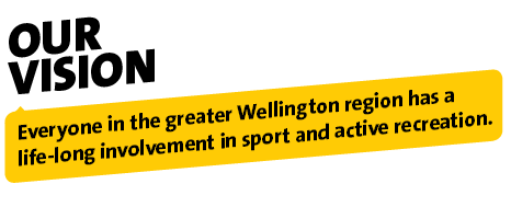 Our Vision - Everyone in the greater Wellington region has a life-long involvement in sport and active recreation.
