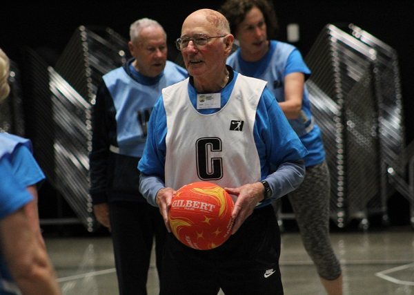 Man playing netball