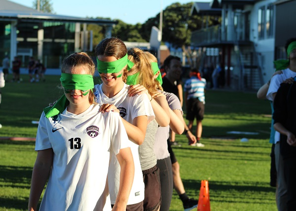 WCC Talent Development Programme Welcome Evening blind fold challenge